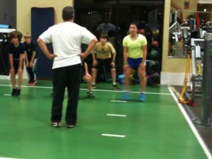 U13 players worked out at Parisi Speed School.
