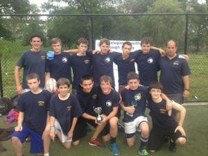 The Pelham U15 team received the Atlantic Cup last year after beating Bermuda and Luke Persanis (kneeling second from right) the man-of-the-match award.